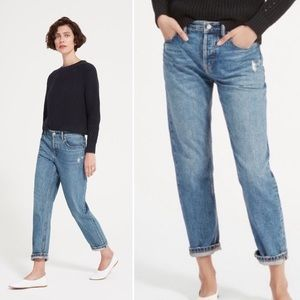 Everlane • The Relaxed Distressed Boyfriend Jean.